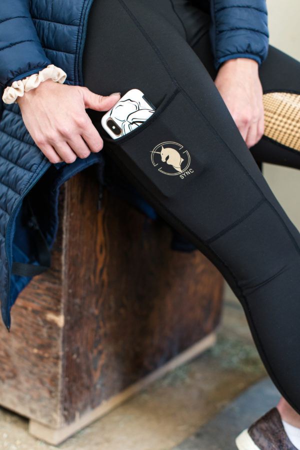 Yulia Brat wearing our Latte performance breeches