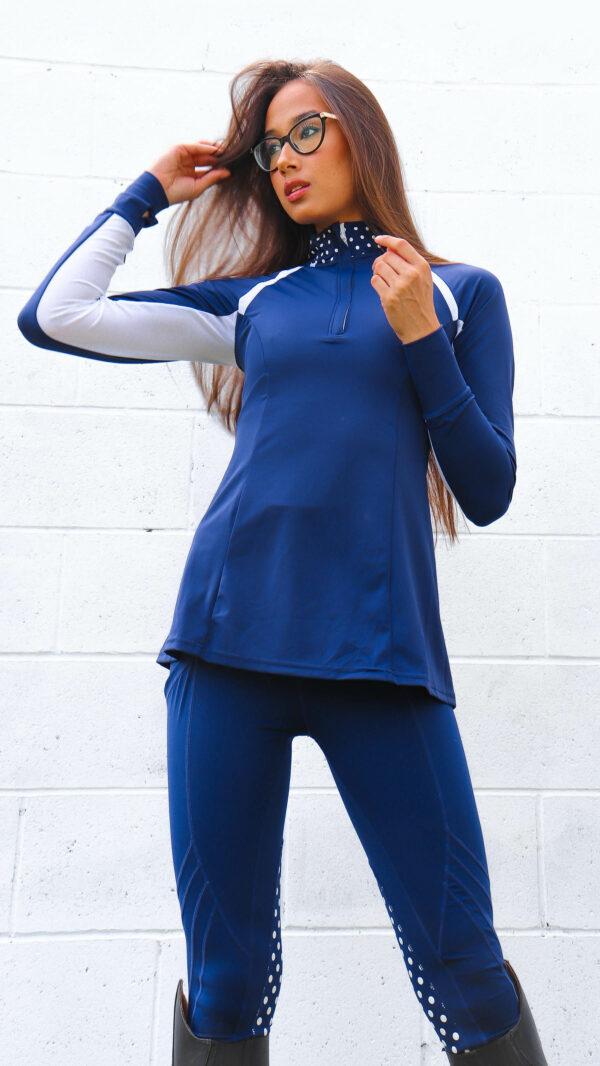Daisy Sunshirt + your choice of Daisy Performance breeches set ( Navy/Blue Color)
